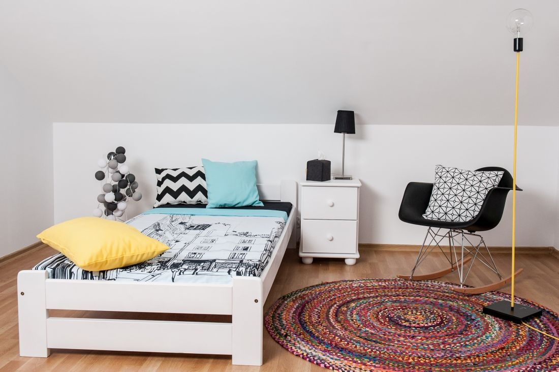 łóżko Sosnowe Figaro 90x200 Białe