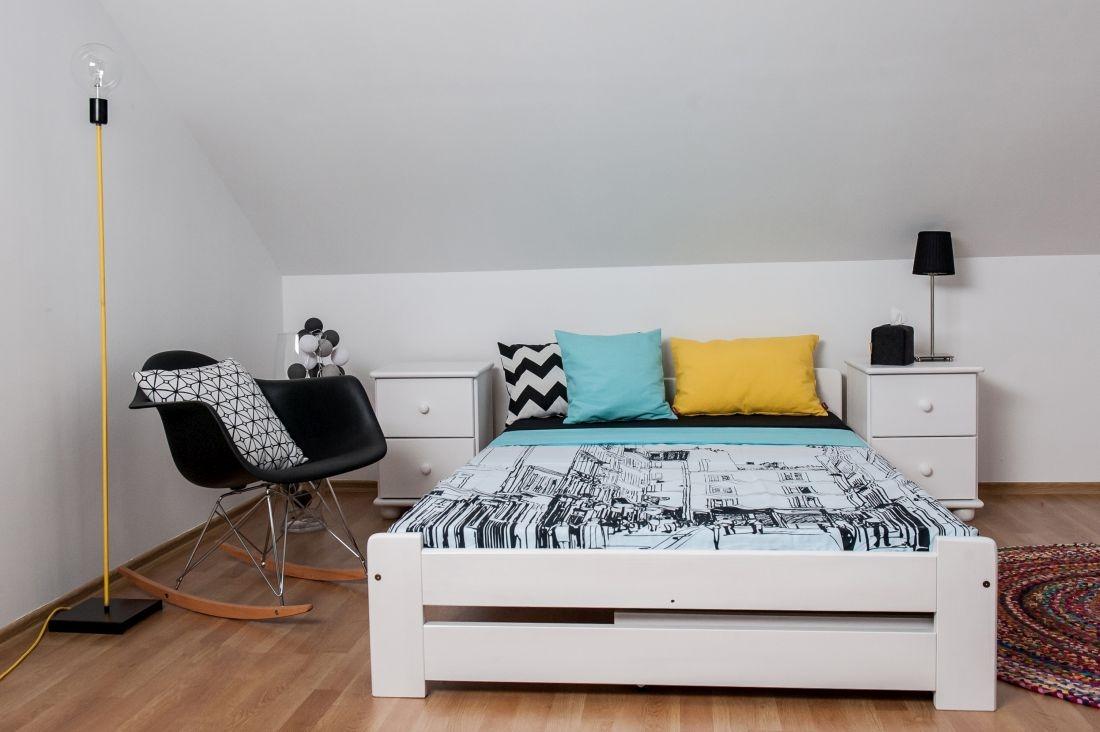 łóżko Sosnowe Figaro 120x200 Białe