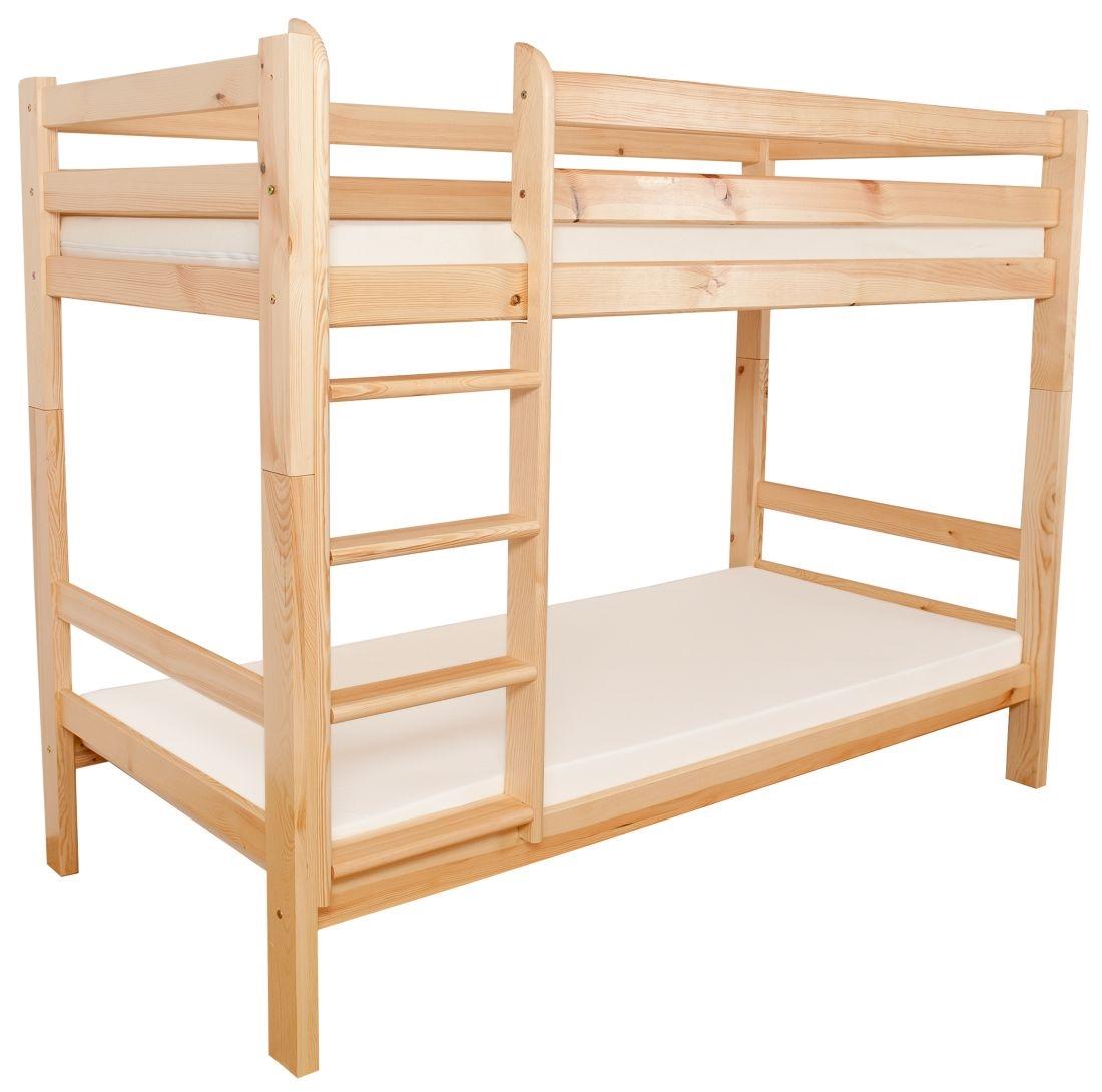 łóżko Sosnowe Piętrowe A 90x200 Sosna